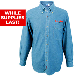 MEN'S P/C LONG SLEEVE DENIM SHIRT